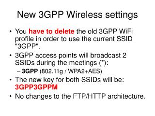New 3GPP Wireless settings