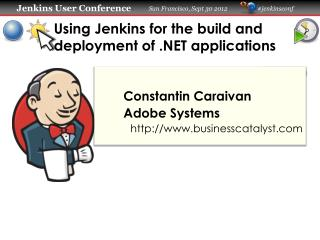 Using  Jenkins for the build and deployment of .NET applications