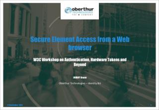 Secure Element Access from a Web browser
