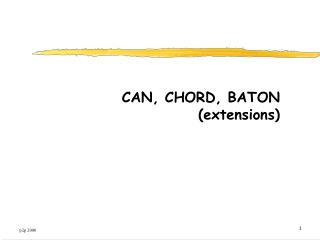 CAN, CHORD, BATON (extensions)