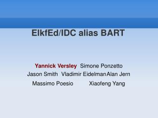 ElkfEd/IDC alias BART
