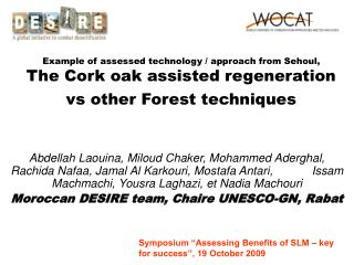 "Symposium ""Assessing Benefits of SLM – key for success"", 19 October 2009"