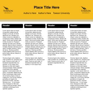 Place Title Here Author's He re  Author's Here   Towson University