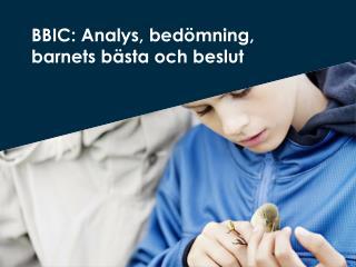 BBIC: Analys ,  bedömning ,  barnets bästa  och  beslut