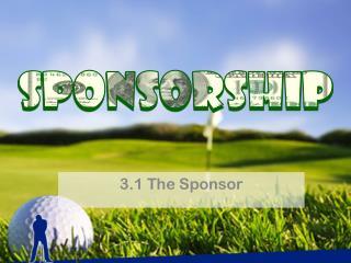 3.1 The Sponsor
