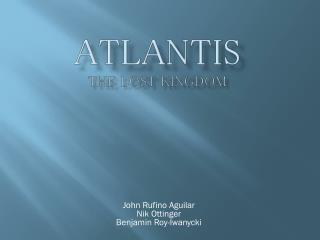 Atlantis the lost kingdom