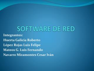 SOFTWARE DE RED