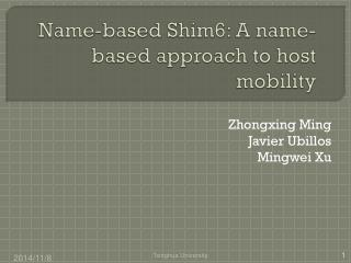 Name-based Shim6: A name-based approach to host mobility
