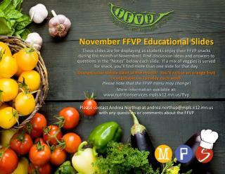 November FFVP Educational Slides