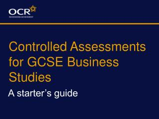 Controlled Assessments for GCSE Business Studies