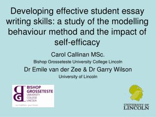Carol Callinan MSc. Bishop Grosseteste University College Lincoln