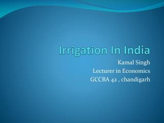 Irrigation In India
