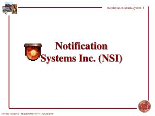 Notification Systems Inc. (NSI)