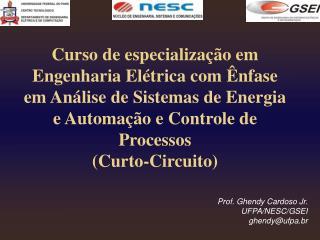 Prof. Ghendy Cardoso Jr. UFPA/NESC/GSEI  ghendy@ufpa.br