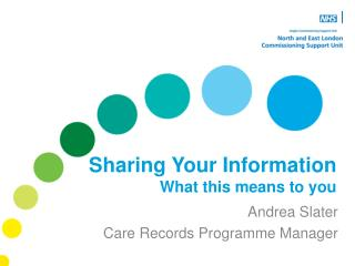 Sharing Your Information What this means to you