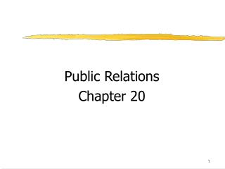 Public Relations Chapter 20