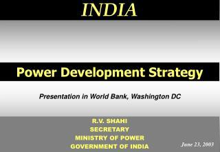 Power Development Strategy