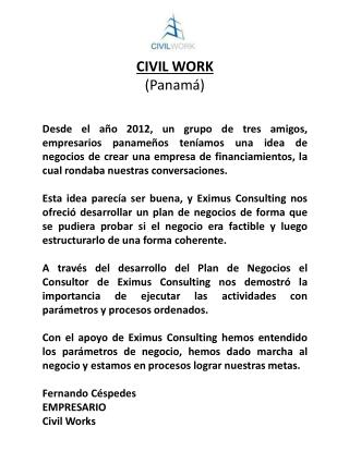 CIVIL WORK (Panamá)