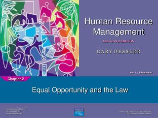Equal Opportunity and the Law