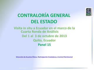 CONTRALORÍA GENERAL  DEL ESTADO