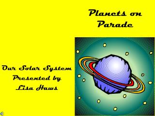 Planets on Parade