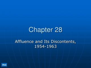Affluence and Its Discontents, 1954-1963
