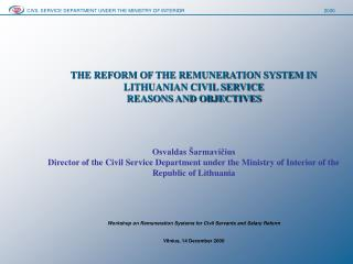 CIVIL SERVICE DEPARTMENT UNDER THE MINISTRY OF INTERIOR