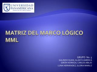 Matriz del Marco Lógico MML