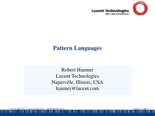 Pattern Languages