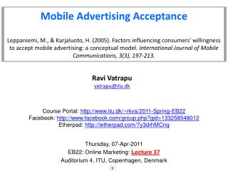Mobile Advertising Acceptance