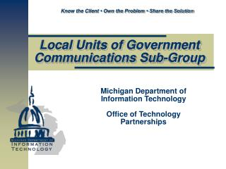 Local Units of Government Communications Sub-Group