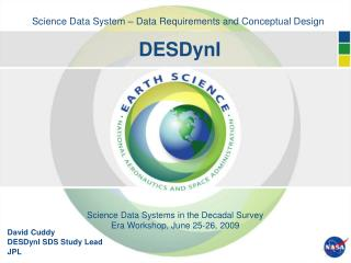 Science Data System – Data Requirements and Conceptual Design DESDynI