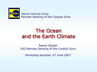The Ocean and the Earth Climate