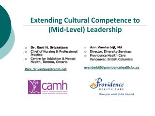 Extending Cultural Competence to  (Mid-Level) Leadership