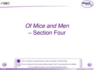 Of Mice and Men  �  Section Four