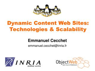 Dynamic Content Web Sites: Technologies & Scalability