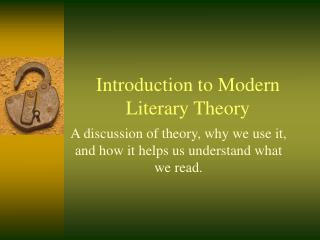 Introduction to Modern Literary Theory