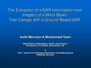 Keith Morrison & Muhammad Yasin