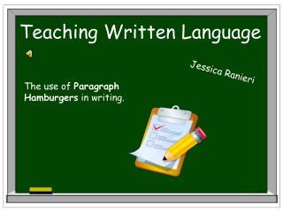 Teaching Written Language
