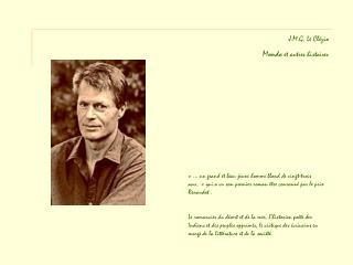 J.M.G. Le Clézio Mondo  et autres histoires