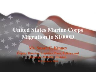 United States Marine Corps Migration to S1000D