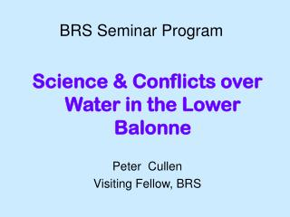 BRS Seminar Program