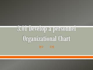 3.01 Develop a personnel Organizational Chart