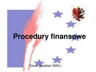 Procedury finansowe