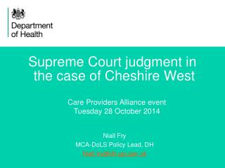 Supreme Court judgment in  the case of Cheshire West