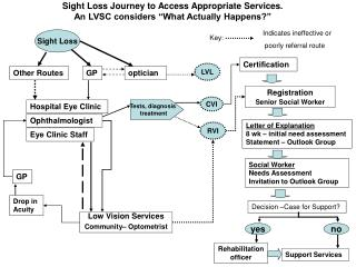 """Sight Loss Journey to Access Appropriate Services. An LVSC considers """"What Actually Happens?"""""""