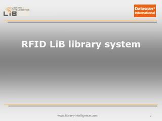 RFID LiB library system