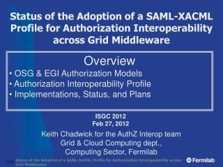 ISGC 2012 Feb 27, 2012