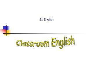 S1 English