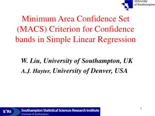 Minimum Area Confidence Set (MACS) Criterion for Confidence bands in Simple Linear Regression
